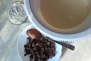 Для шоколадного бисквита
