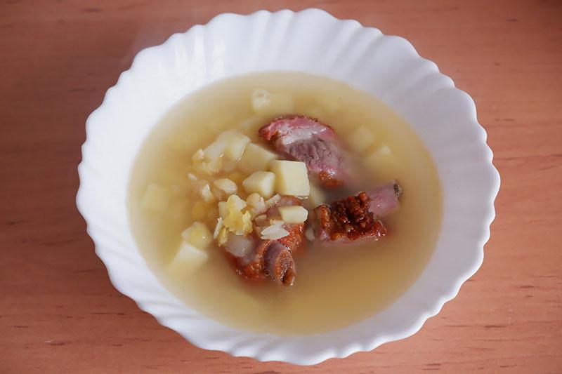 Гороховый суп с копченостями и с картошкой