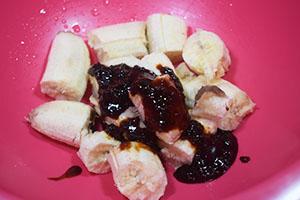 Измельчаем бананы