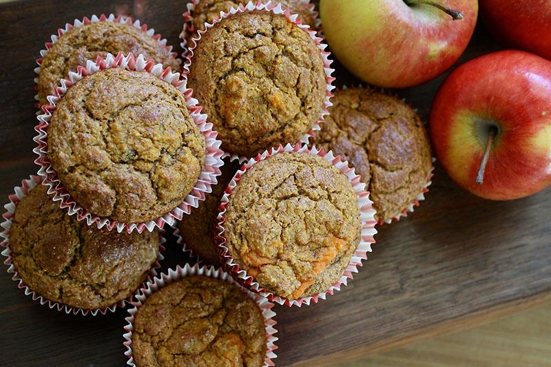 Овсяные кексы с яблочным пюре