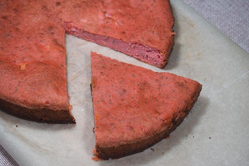 Овсяный пирог с персиками и чиа