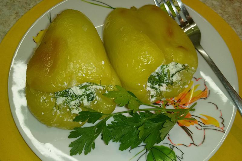 Перец запеченный с сыром