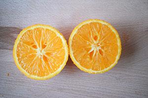 Подготавливаем апельсин