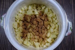 Подготавливаем яблоки