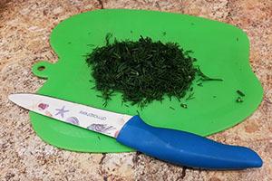 Подготовка овощей и зелени