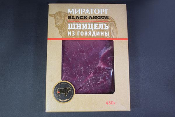 Шницель из говядины Мираторг Black Angus
