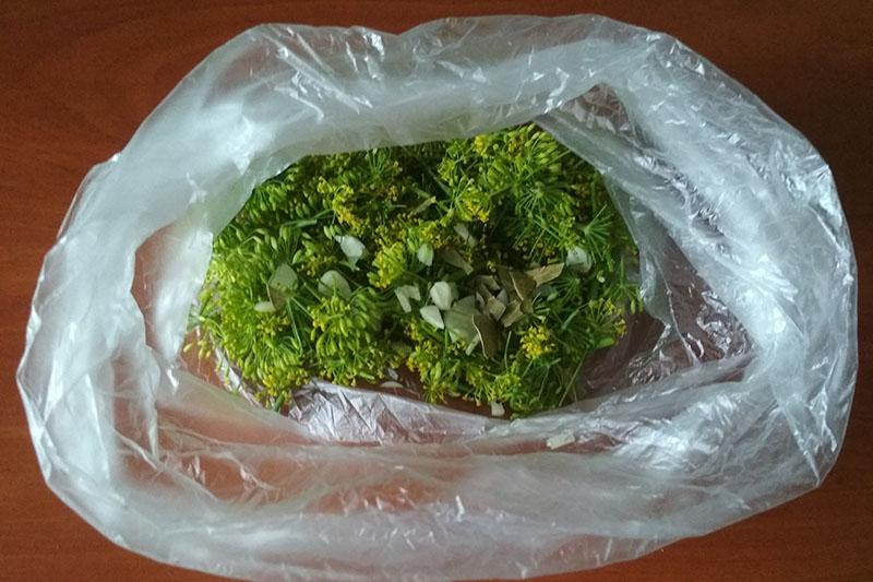 Складываем ингредиенты в пакет