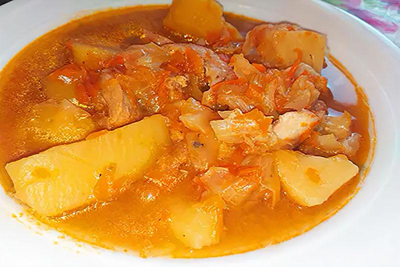 солянка с курицей и капустой