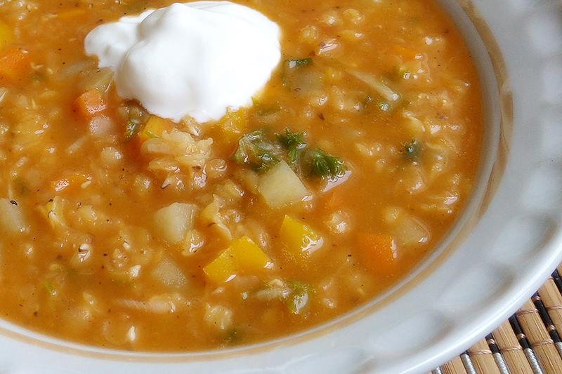 Суп из красной чечевицы без мяса