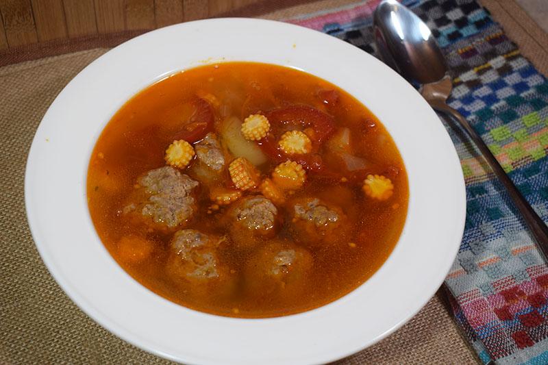 Суп по-мексикански с фрикадельками
