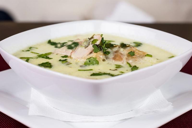 Сырный суп с курицей и картошкой