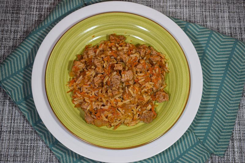 Телятина с рисом и овощами