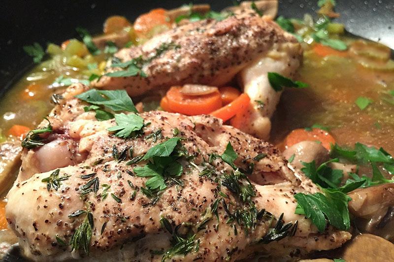 Жаркое с курицей в духовке