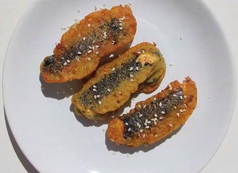 Жареный сыр в нори