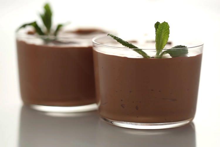 Шоколадно - творожный мусс