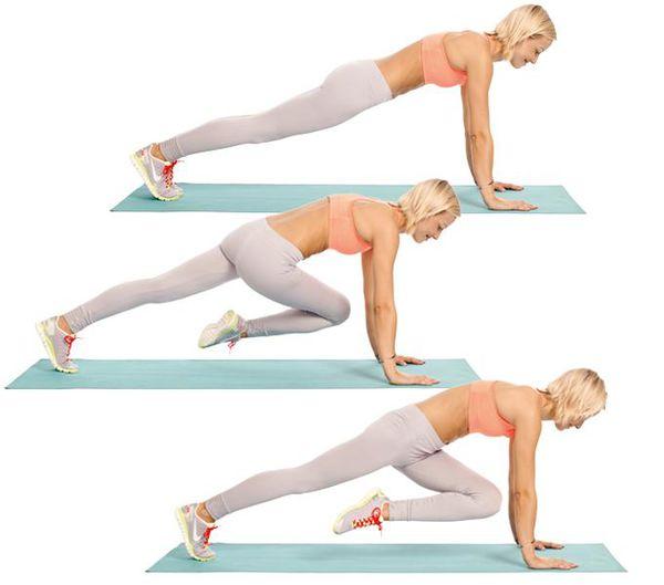 Техника выполнения упражнения Альпинист