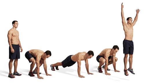 Техника выполнения упражнения берпи (бурпи)