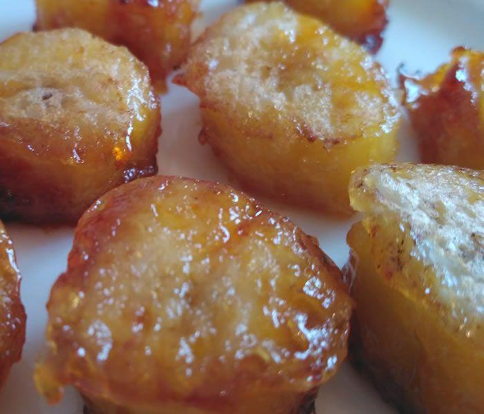 Банан в медовой глазури